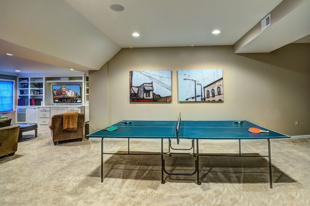 game room in luxury basement GTA