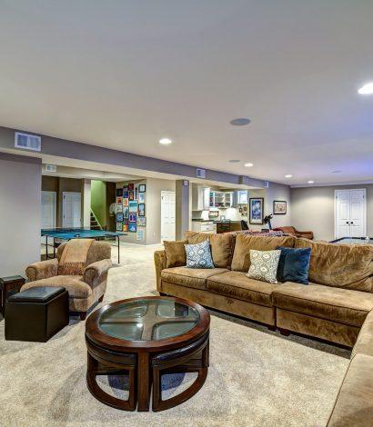 custom living room in luxury basement-basement renovation brampton