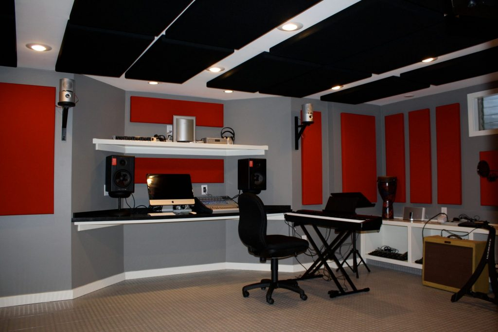 custom basement home studio by DRV basements