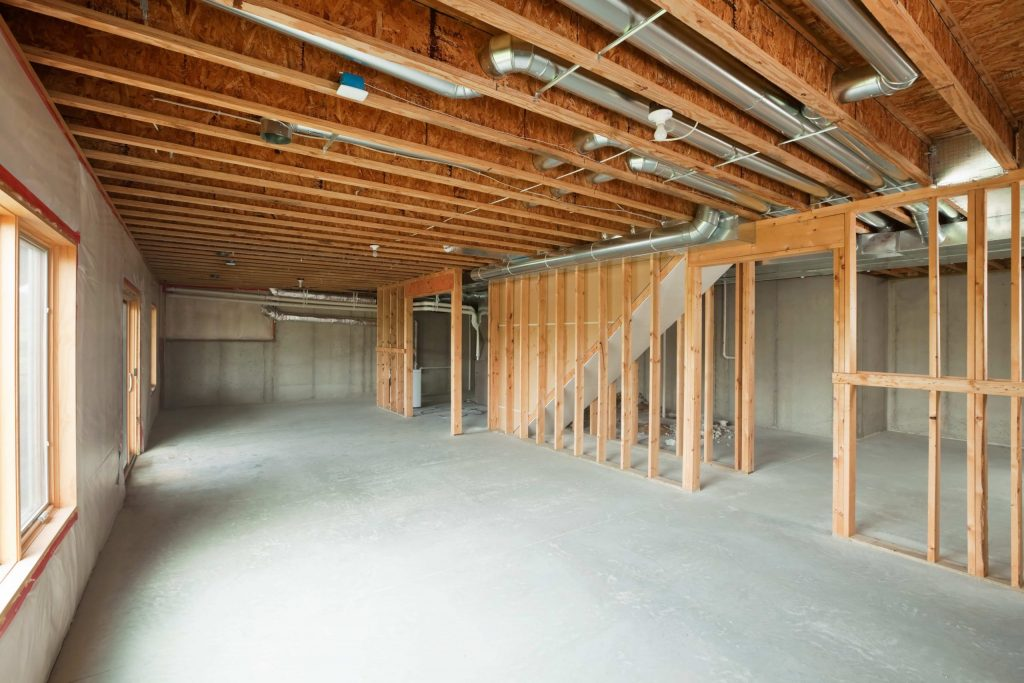 basement framing and finishing by DRV basements- finishing a basement