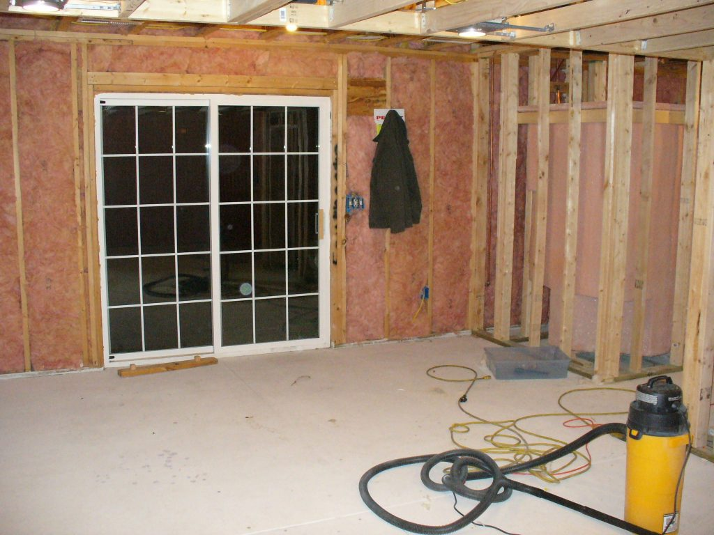DRV basements in progress of insulating the basement - basement waterproofing toronto