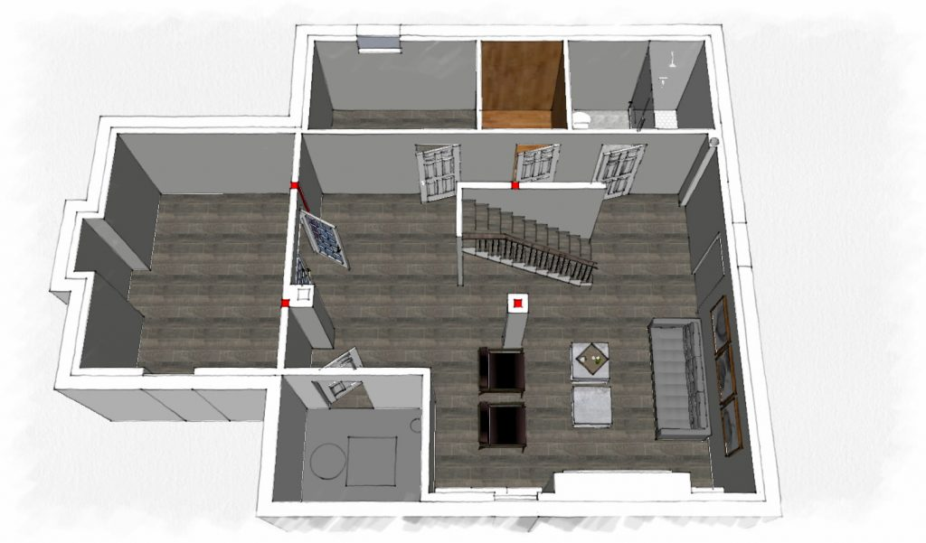 model of basement finishing - basement renovation nobleton