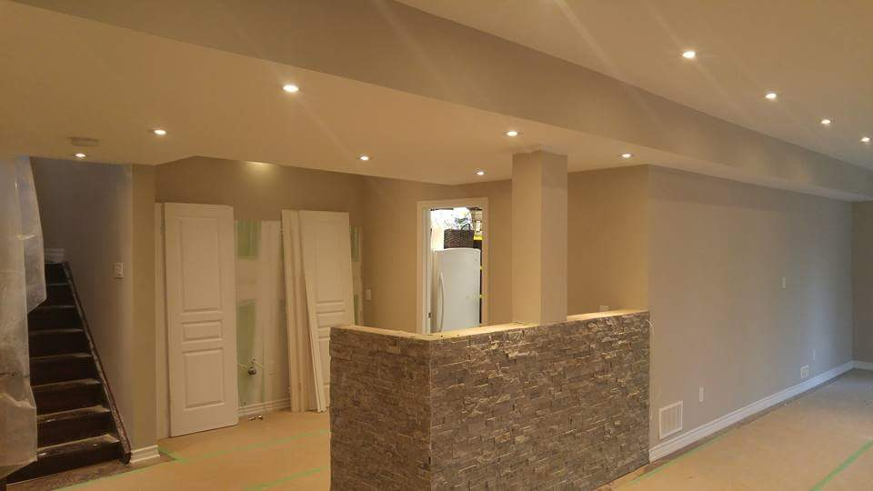 modern basement renovation - basement renovation oakville