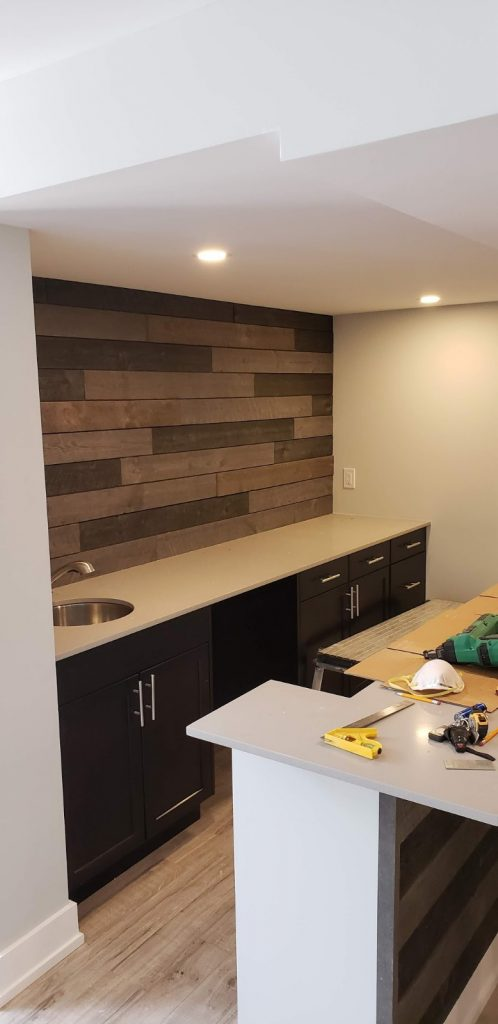 custom small kitchen renovation - basement renovation burlington