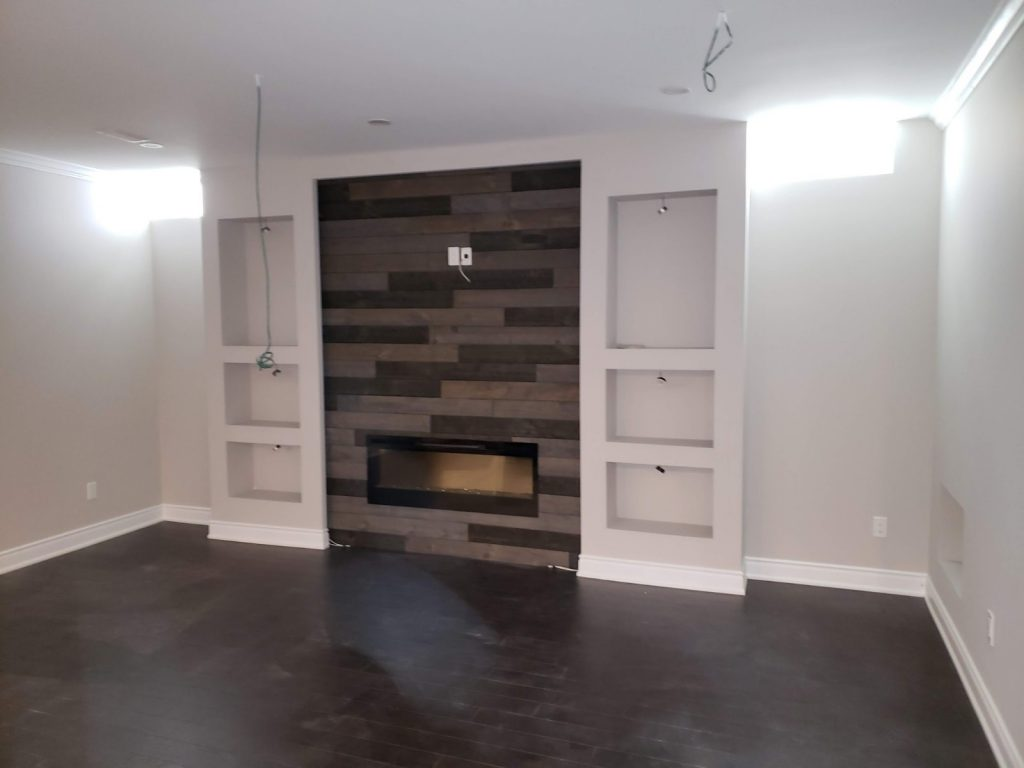 custom basement renovation with build in cabinets - basement renovation newmarket