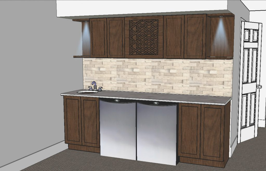 3D model of luxury kitchen design