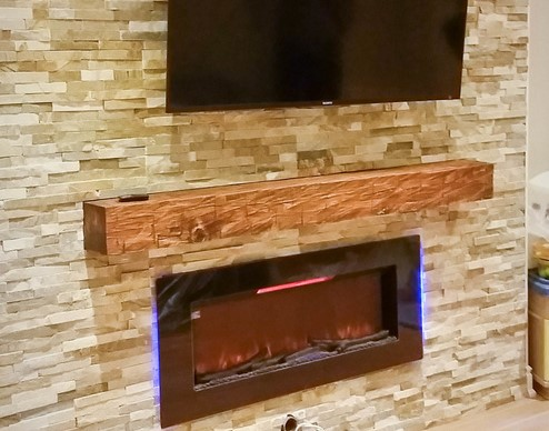 photo of custom wall cover for basement family room - basement remodeling