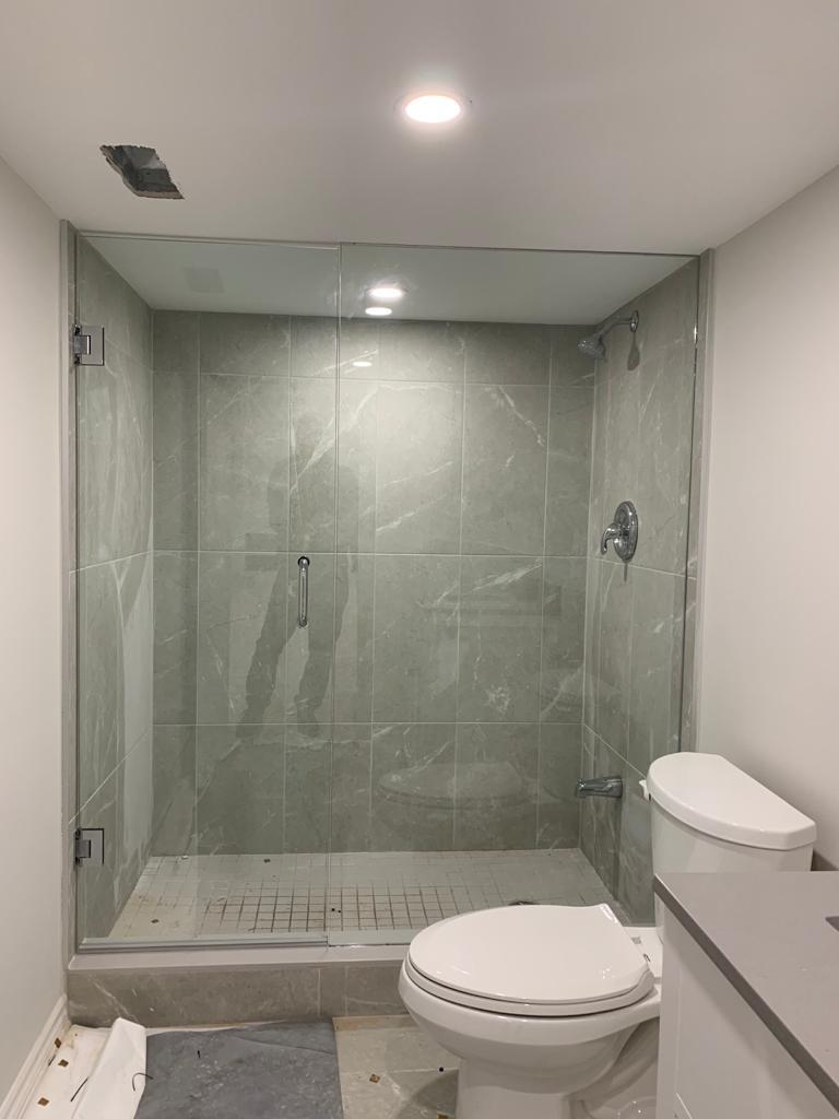 basement bathroom remodeling project - basement renovations toronto