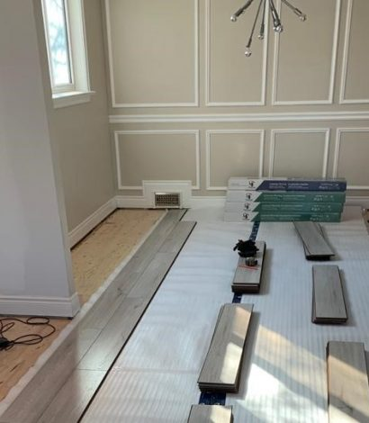 wooden floor installation by DRV basements